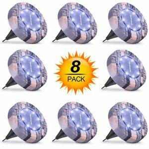8er Solar Bodenleuchte LED Solarleuchte Bodeneinbaustrahler Leuchte Außenleuchte