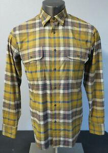 Mens-St-Johns-Bay-Hiking-Shirt-Long-Sleeve-Button-Front-Terra-Tek-Quick-Dry-S