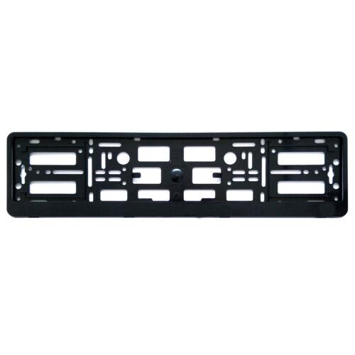 2x Universal llano negro titulares de número de placa Placa Rodea Marcos de cualquier coche o furgoneta