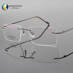 1090c6355a Image is loading Rimless-Titanium-Eyeglass-Frame-Ultra-light-Glasses-Optical -