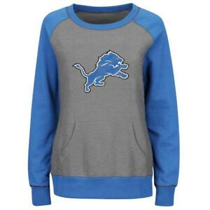 more photos 06dfc e4dfb Details about Detroit Lions sweatshirt Majestic women OT Queen crew neck no  hoodie NWT