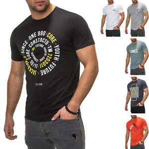 Jack-amp-Jones-T-Shirt-Hommes-Print-Manches-Courtes-Chemise-Shirt-Homme-Shirt-Top-Avec-Print