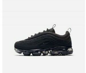 separation shoes e4598 1ab2c Details about Nike Air VaporMax 97 Triple Black AQ2657-001 (Gs) Size 7