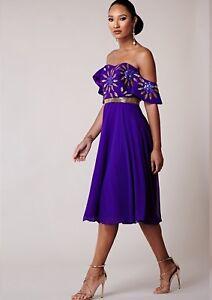 8 Lilla Dress Drop Midi Prom Cold 16 Party Shoulder Lounge Virgos Dekorert v1qwanA