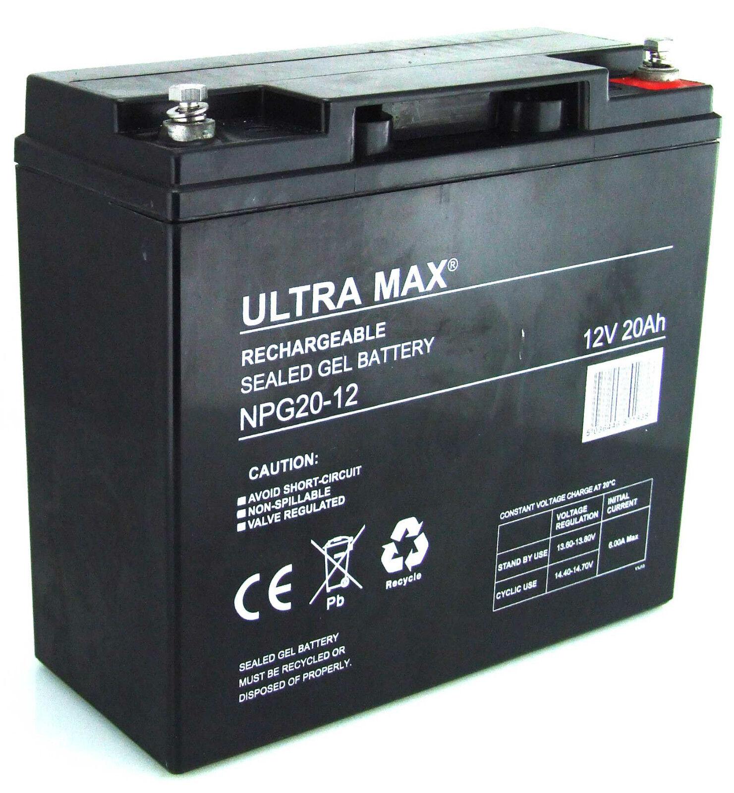 4 X  12V 20AH (Sustituye 17AH 18AH 19AH 21AH 22AH) Ultra Max AGM   Baterías Gel  exclusivo