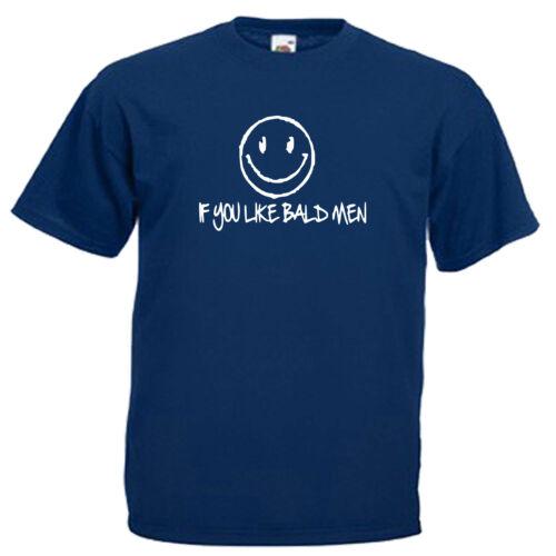 Chauve Drôle Slogan Adultes Homme T shirt 12 Couleurs Taille S 3XL