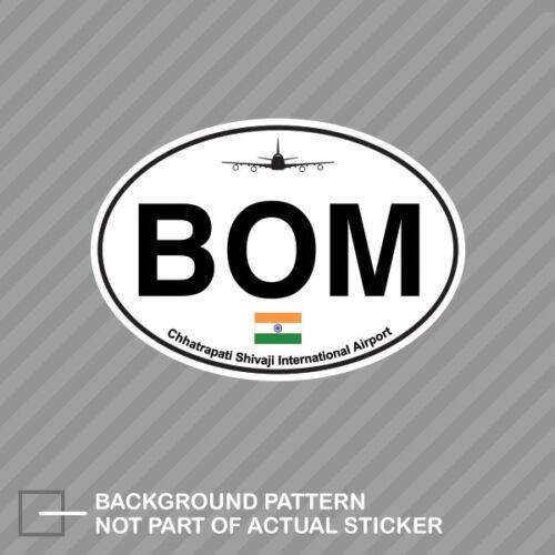 Chhatrapati Shivaji Airport Euro Oval Sticker Decal Vinyl BOM Mumbai Sahar India