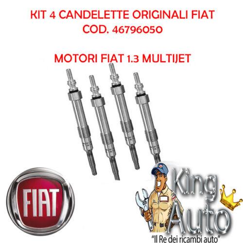 4 CANDELETTE ORIGINALI FIAT GRANDE PUNTO PANDA 500 1.3 MULTIJET 0250203002