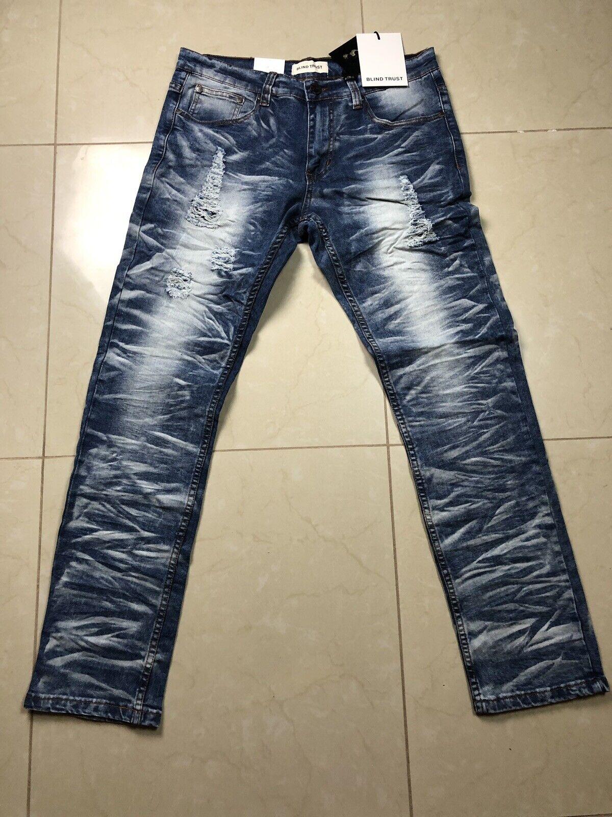 Blind Trust bluee Denim Jean Slim Fit Size 38x32