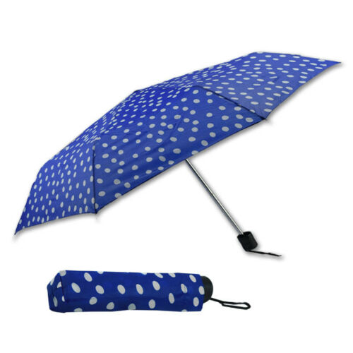 Regenschirm mit Punkten Taschenschirm Schirm Ø 87 cm Regen Schirm inkl Hülle