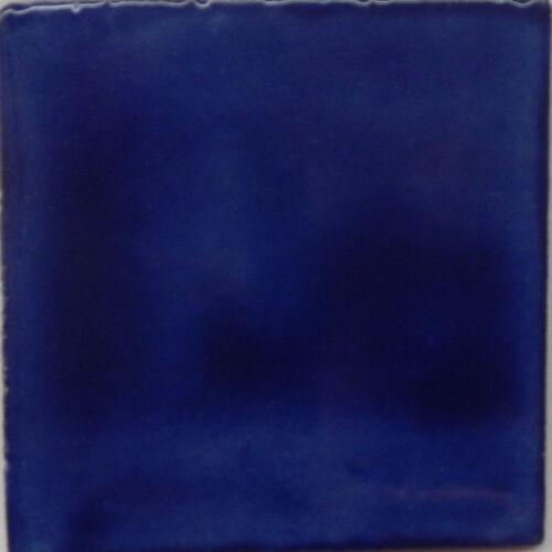 50  Mexican Talavera tiles 4x4 Plain Color Tiles Washed Blue