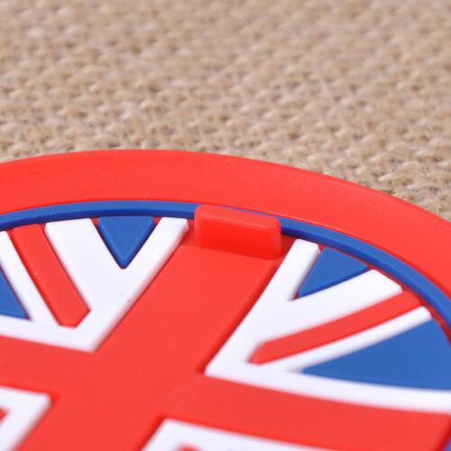 3pcs Anti-Slip Cup Mat Pad Red Union Jack Flag for Mini R55 R56 R57 R58 R59