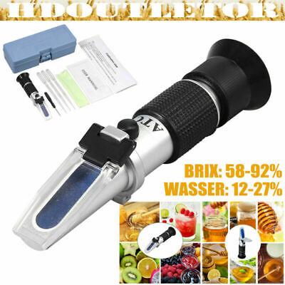 Refraktometer Honig Wasser Zucker Gehalt Imker Brix 58-92/% Wasser 12-27/% Honey