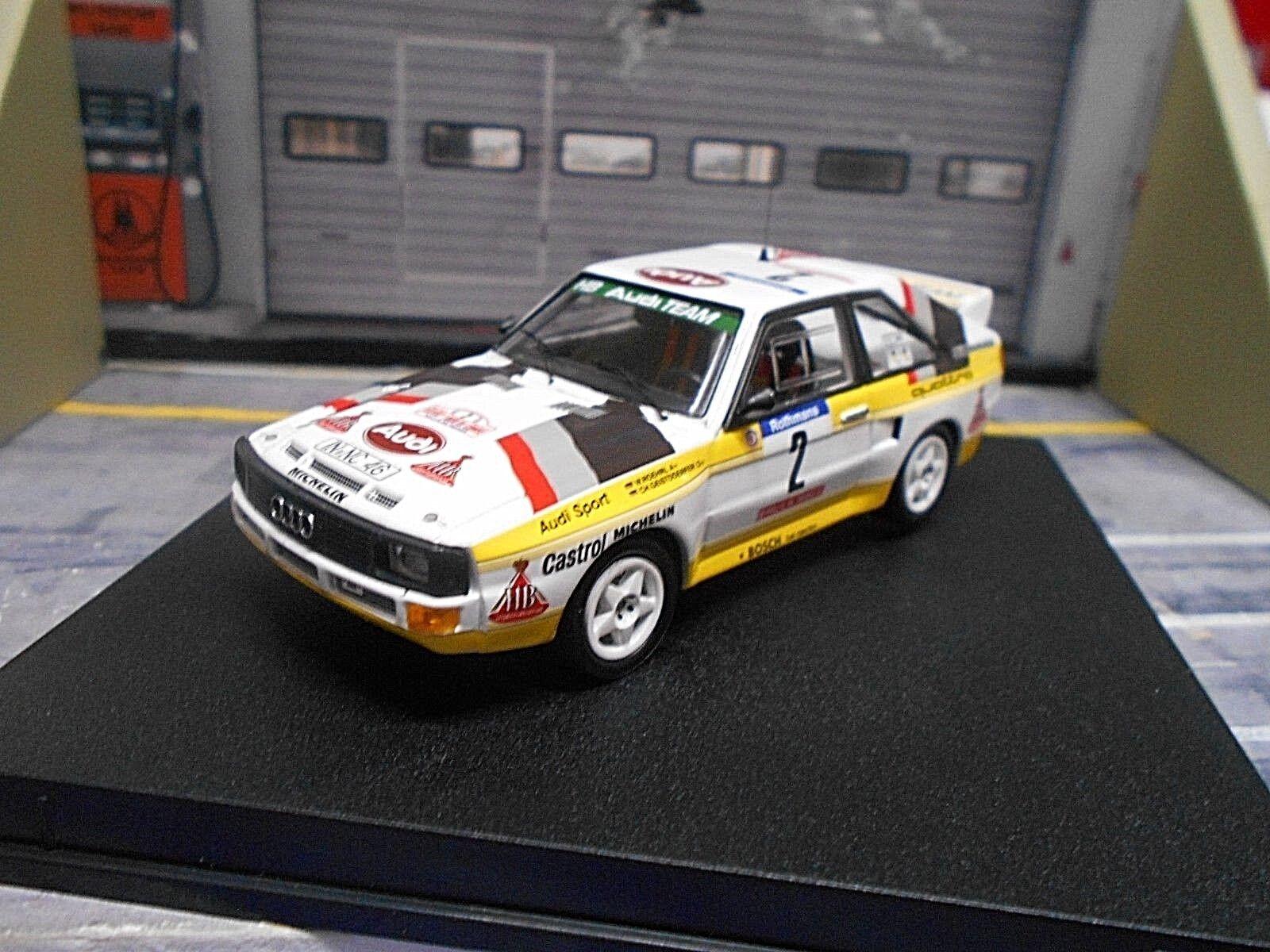 Audi Quattro Sport Rallye Tour de Corse 1984  2 Röhrl TROFEU + décalques H B 1 43