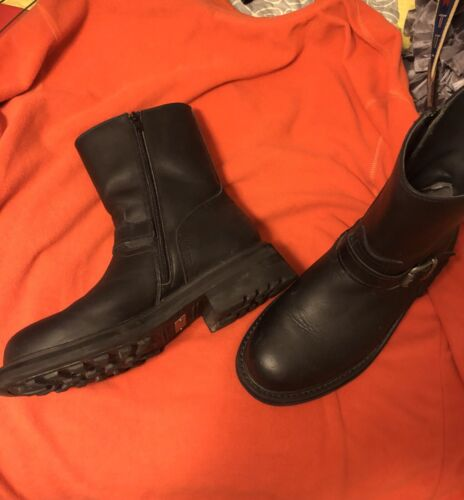 FRYE Mens Black Commando Engineer Boots