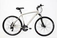 Mens Cs700 21 Frame Hybrid Bike Lockout Forks 24 Speed 700c Wheel Bike Alloy