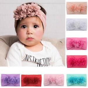 Details Zu 2stk Baby Mädchen Haarband Kinder Blumen Schleife Stirnband Haarschmuck Taufe Hj