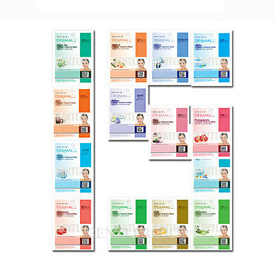 [GENTLER] Dermal Korea Essence Mask Sheet 14pcs +1 Piece Gift, Korean Cosmetics