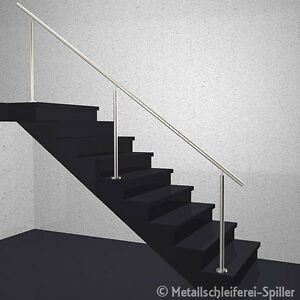 edelstahl gel nder treppe handlauf ohne f llung aufgesetzte montage 500 2600 mm. Black Bedroom Furniture Sets. Home Design Ideas