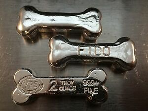 2-oz-YPS-034-Dog-Bone-034-999-fine-silver-bullion-bar-034-Yeager-039-s-Poured-Silver-034