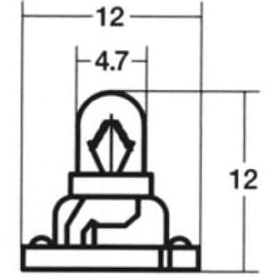 Miniature Bulb Neo Wedge T4.7 14V 100mA 1.4W Instrument Light Stanley QTY-5  G53