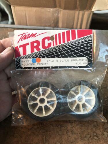 Vintage Team TRC 1//12 scale pro cuts Front Pan Car Tires