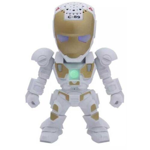 LED Iron Man Robots Bluetooth Wireless Speaker Stereo Wireless Radio speakers
