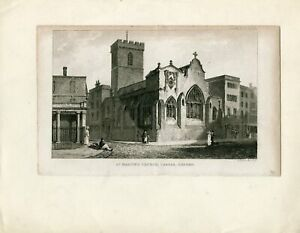 St-Martin-039-s-Church-Carfax-Drawn-and-Engraved-by-G-Hollis