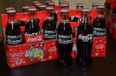 Walt Disney 25th Anniversary Oct 1996-Dec 1997 Comm Edition 6 Pack Coca-Cola w//