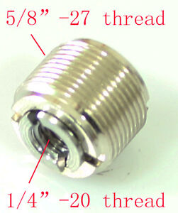 New-assembly-unit-Microphone-Mic-Screw-Clip-Thread-1-4-034-to-5-8-034-Adaptor