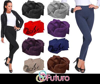 Offen Uk Thick Warm Cotton Full Length Winter Fleece Leggings All Colours - Sizes P28 Modern Und Elegant In Mode