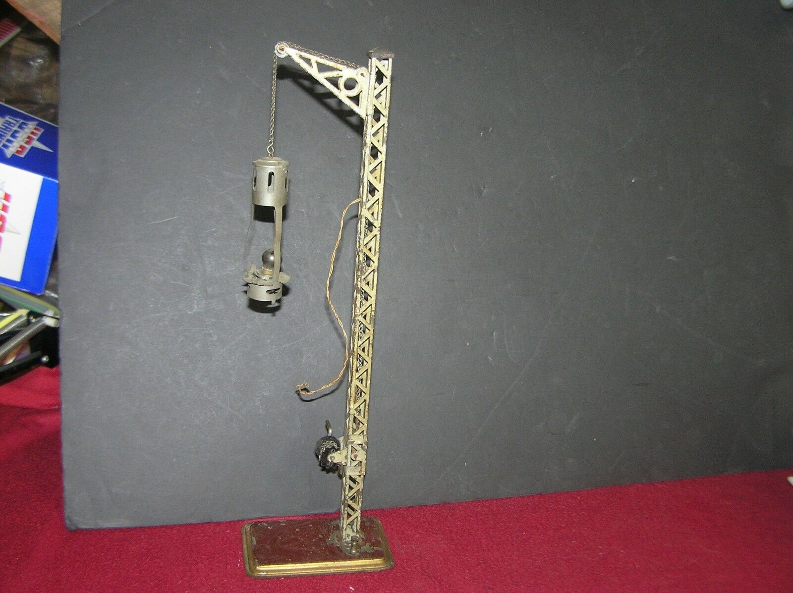 Bing German Bavarian Trestle Hand Cranked Lamp Light Tower Prewar 15  Tall (C)