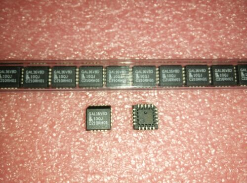 2x LATTICE GAL16V8D-10QJ PLCC-20 EE SPLD GAL Family 8 Macro Cells 83.3MHz 5V