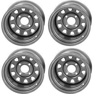 4-ATV-UTV-Wheels-Set-12in-ITP-Delta-Steel-Silver-4-110-5-2-2-5-SRA