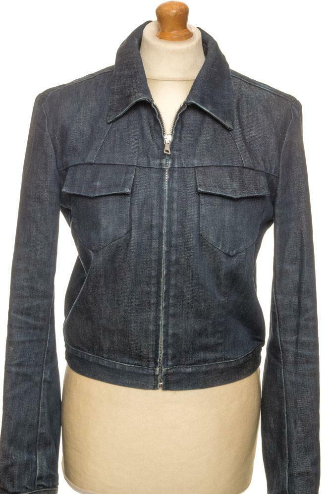 PRADA Denim Jeans Chaqueta que 42 EU 36 10 nos  8 FR 38 pequeños como nuevo de primera clase  tienda de venta en línea