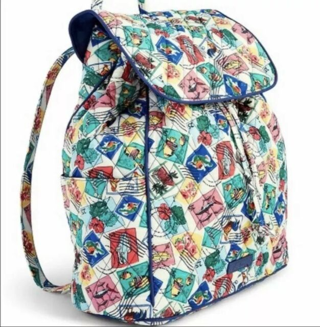 Authentic Vera Bradley Drawstring Backpack Cuban STAMPS RARE for ... f0b747418b7c3