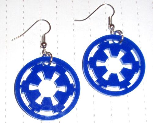 80s Super Star Wars Imperial Logo Charm Earrings Kitsch Kawaii Fancy