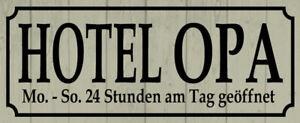 Hotel Grandpa Tin Sign Shield Arched Metal 10 X 27 CM K0121