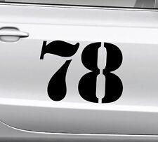 3x Startnummer Wunschnummer Auto Motorrad Motocross Aufkleber ATV M3 Enduro Boot