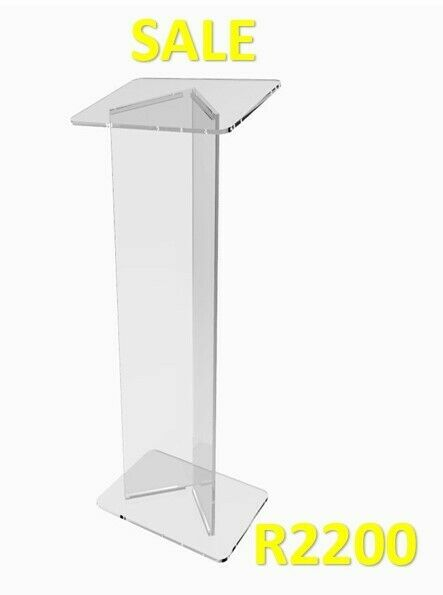V Shaped Clear Perspex Podium