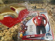 NEW Marvel Avengers IRON MAN ADULT 2-Piece Men's Costume- Size L (36-38)