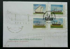 SJ-Portugal-Fishing-Boat-1993-Vehicle-Sailboat-Transport-Ship-stamp-FDC