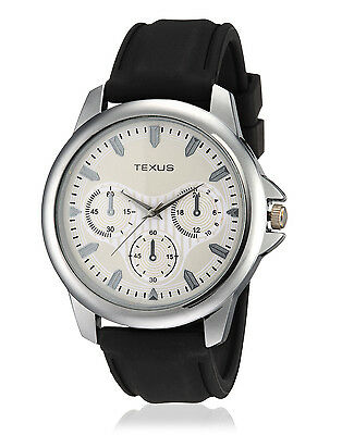 Texus(TXMW008) Black Strap Watch for Men/Boys
