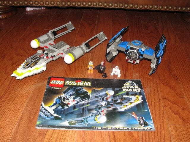 STAR WARS LEGO LEGO LEGO SET  EPISODE IV  TIE FIGHTER & Y-WING  1999 857acb
