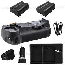 Battery Grip Nikon D300 D700 + 2x Nikon EN-EL3E Battery + AC/DC Dual Charger Kit