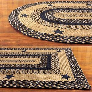 Ihf Home Decor Star Black Braided Area Rug Oval Rectangle