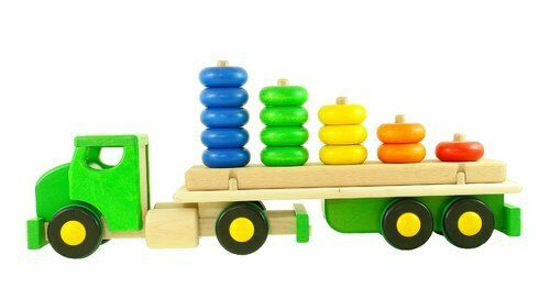 LKW grün BAJO Holzauto Auto Holzspielzeug Greifling