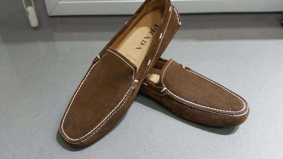 NEW AUTHENTIC MEN PRADA DRIVING SHOES LOAFERS PRADA SIZE 7