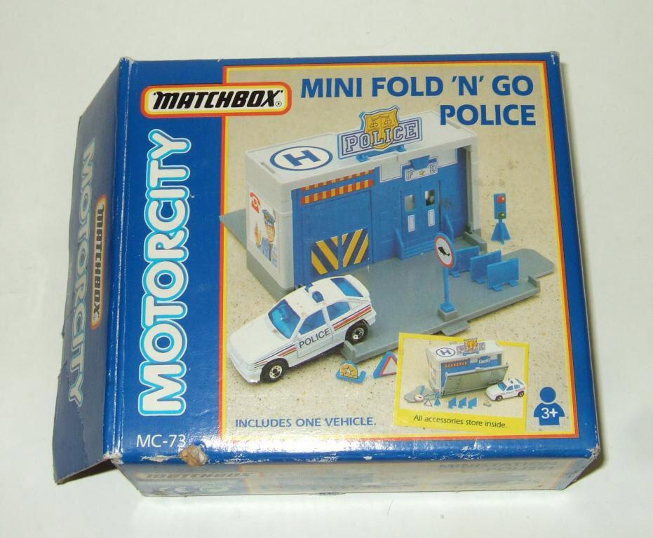 Matchbox Motorcity Garage Police station Mini Fold 'N' Go MC-73 MC-73 MC-73 34bf75