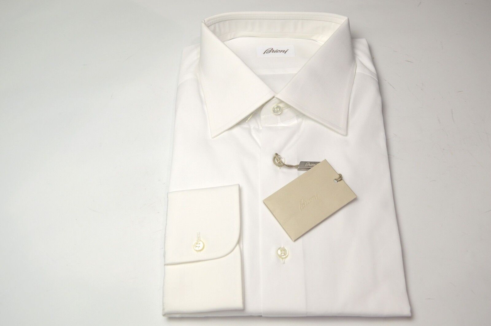 NEW  BRIONI Dress  SHIRT 100% Cotton Größe 15.75 Us 40 Eu  (ARA133)
